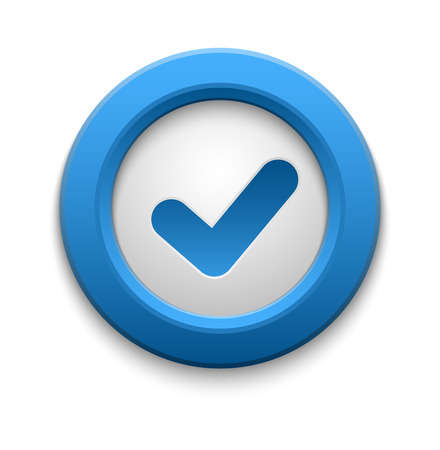 right choice: Check box vector icon button isolated. Check icon mark sign choice yes symbol. Correct design check icon mark right agreement voting form. Button question choose success graphic. Illustration