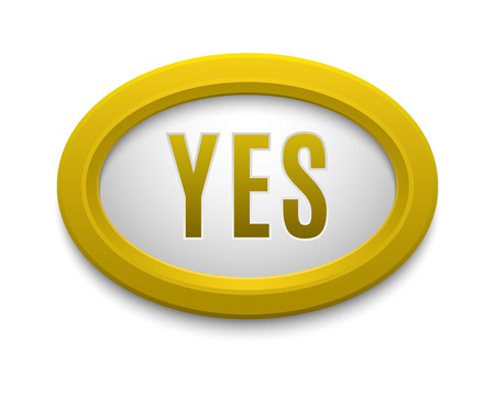 to accept: UI interface buttons ok, yes, approve and go. Vector internet check yes button positive isolated. Website accept yes button success mark approved tick concept. Correct shiny sign. Illustration