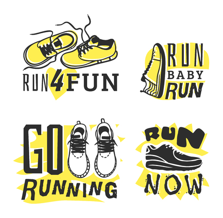 run faster: Sport fitness typographic poster run sport motivation badge. Run sport motivation text lettering. Motivational and inspirational illustration lettering design,  poster Illustration
