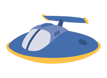 space antenna: UFO craft plane and space station silhouette . Unidentified antenna planet travel universe UFO spaceship. Flying technology science UFO spaceship mystery rocket, cartoon design.