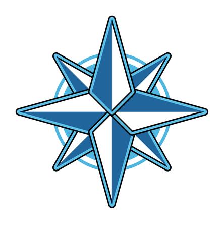longitude: Wind rose compass flat vector symbol exploration design old sign. Travel marine star wind rose symbol longitude shape. Cartography direction east west wind symbol star element geography. Illustration