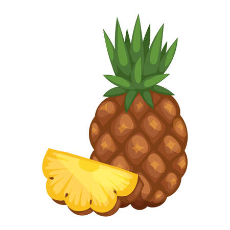 ananas: Pineapple isolated on white tropical healthy fruit, sweet ananas tasty fruit. Ananas pineapple tropical fruit and ananas pineapple healthy fruit food. Tropical vitamin pineapple fruit