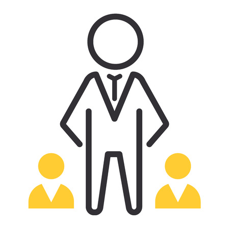 motivations: Vector motivation and business success icon related to management, strategy, career progress and business process. Mono line motivations icon pictograms and infographics motivations design element Illustration