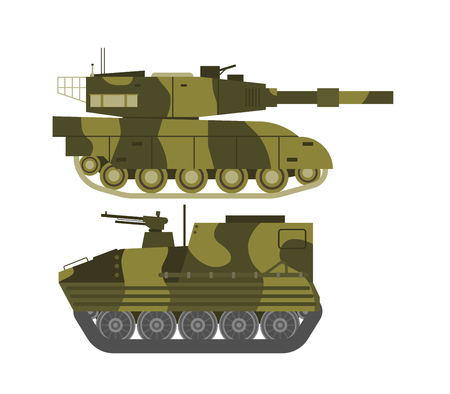 soviet: Self propelled artillery isolated with road fragment and military vehicle isolated. Tank isolated defense, heavy, soviet forces and isolated combat track transportation history barrel. Illustration