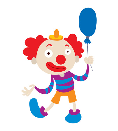 clown nose: Clown character performing different fun activities vector cartoon illustrations. Clown character funny happy costume cartoon joker. Fun makeup and carnival smile hat nose clown character circus