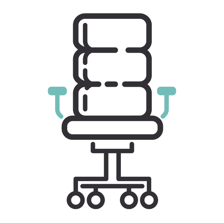 office furniture: Furniture and home decor icon vector illustration. Indoor cabinet interior room sign, office bookshelf furniture icon. Modern closet silhouette furniture icon outline decoration. Illustration