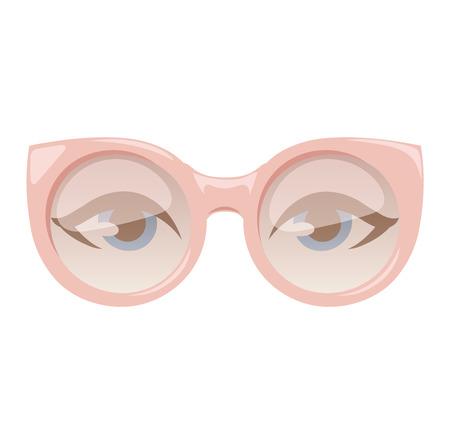 reading glasses: Reading glasses human eye eyesight equipment. Glasses human eye silhouette beauty eyeball people accessory. Optical black lens sight isolated glasses human eye medical fashion focus.
