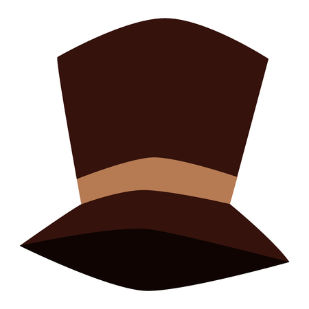 tall hat: Cylinder black gentleman hat male costume retro culture. Vector history clothing shiny tall hat vintage accessory. Classic gentleman traditional icon tall hat elegance topper aristocrat symbol.
