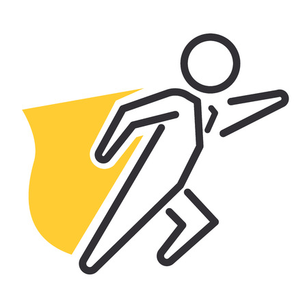 Vector motivation and business success icon related to management, strategy, career progress and business process. Mono line motivations icon pictograms and infographics motivations design element Vettoriali