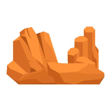 boulder: Stones and rocks in cartoon style big building mineral pile. Boulder natural rocks and stones granite rough. Vector illustration rocks and stones nature boulder geology gray cartoon material. Illustration