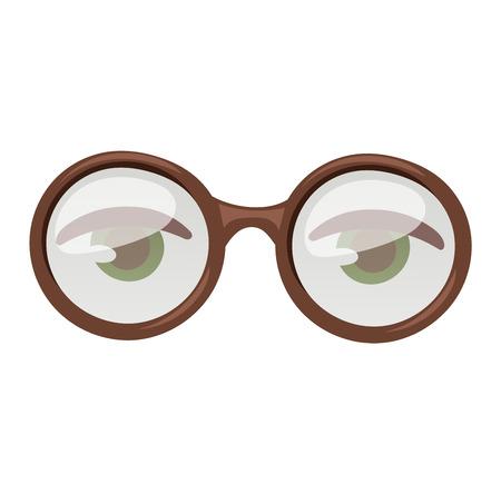 human eye: Reading glasses human eye eyesight equipment. Glasses human eye silhouette beauty eyeball people accessory. Optical black lens sight isolated glasses human eye medical fashion focus.