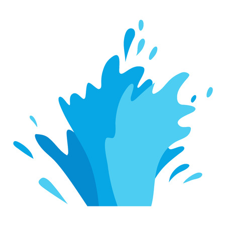 splashing: Water splashes collection vector set. Pour drop spa symbol water splash cartoon vector motion blue splashing. Transparent purity drop nature abstract water splash. Freshness bubble wash.