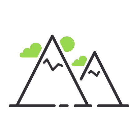 Summer camping icon vector isolated. Flat outline camping icon. Camping icon travel outdoor picnic summer leisure. Nature tourism sign