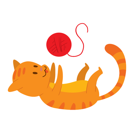 playful: Cat cartoon style vector silhouette. Cute domestic cat animal playfull. Cartoon cat young adorable tail symbol playful. Cartoon funny domestic pussy kitty character Illustration