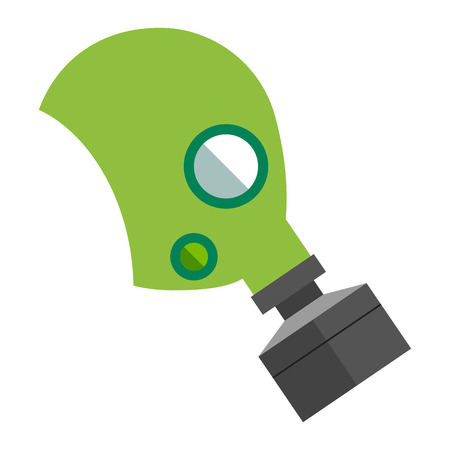 protective gas mask: Respiratory protection mask vector illustration. Respiratory protection mask isolated on white background. Industry safety human organs