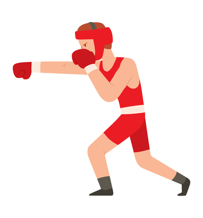 Fighter kickboxer man kick punch grab throw body vector. Athlete training martial boxing fighter people symbol character. Fighter man strong gym kick body. Fight kickboxer people Illustration