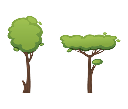 Cartoon tree vector illustration isolated on white background. Cartoon tree vector icon illustration. Cartoon tree isolated vector natural eco icon