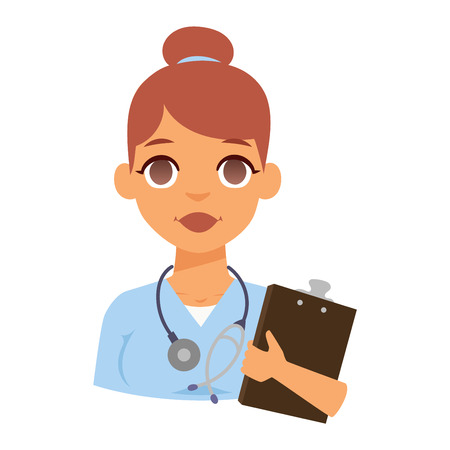 specialist: Doctor spetialist avatar face vector, doctor medical staff people. Medical doctor specialists concept in flat design people character. Doctor specialist uniform vector.
