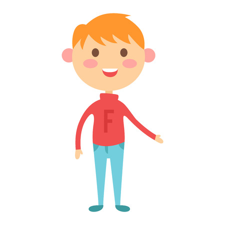 young schoolgirl: Cute baby boy character vector. Cute boy beautiful fashion young female. Cute boy schoolgirl isolayted on white Illustration
