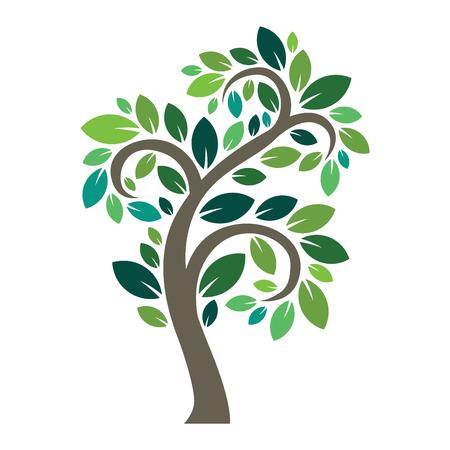 Stylisé arbre vecteur logo icône. arbre vecteur silhouette plat isolé sur blanc. forme de l'arbre et le symbole foem. Vert vecteur arbre icône logo isolé. eco naturel produit logo Banque d'images - 62680139