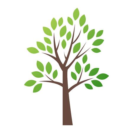 Icône de logo arbre vectoriel stylisé. Silhouette plate de vecteur arbre isolé sur blanc. Forme d'arbre et symbole de la foem. Logo d'icône vector arbre vert isolé. Logo de produit écologique naturel Banque d'images - 62680145