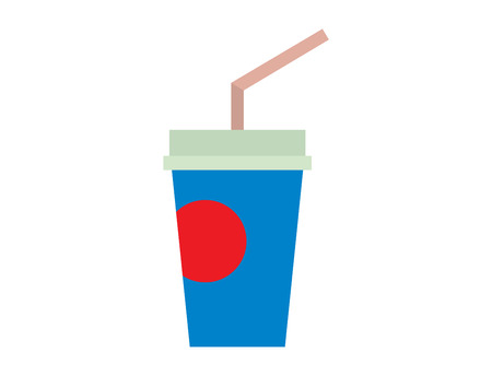 take out: Dark green cardboard take out drink cup with straw isolated on white. Isolated beverage plastic container take out drink cup. Paper take out drink cup cold unhealthy fast food.