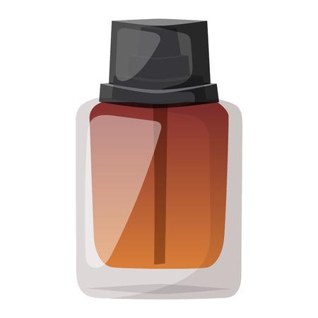 perfume bottle: Vector perfume fashion container smell spray bottle template. Vector illustration perfume shop symbols elegant merchandise gift. Beauty liquid luxury fragrance aroma perfume bottle template