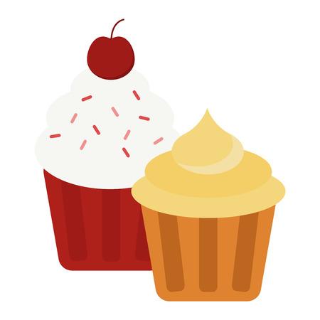 Sweet cake isolated on white. Traditional sweet cake holliday vector. Cake food sweet vector. Food fresh cake isolated