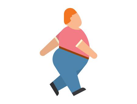 La gente gorda vector carácter abstracto silueta. La gente gorda cuerpo iconos símbolo silueta. Problemas de salud. problemas de los alimentos de la dieta humana