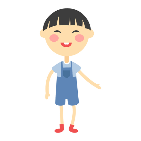Cute japanese baby kid girl character vector. Cute girl beautiful fashion young female. Cute japanese girl schoolgirl isolayted on white