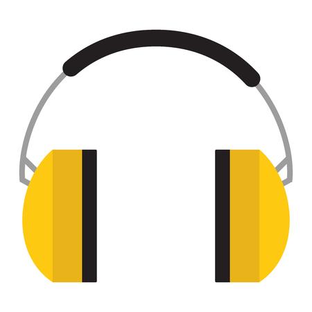 Flaches Design Lärm Kopfhörer-Symbol Vektor-Illustration Zu ...