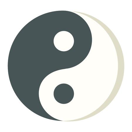 karma: Yin yang icon isolated on white background stylish vector illustration web design. Tao culture meditation yin yang symbol harmony balance zen sign. Abstract karma spiritual yin yang symbol.