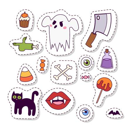 Halloween symbol icon vector isolated on white Illustration