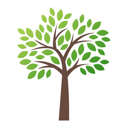 icon vector: Stylized vector tree  icon.