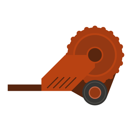plugging: Agricultural machinery farm plug silhouettes vector illustration. Tractor crop machine farm plug industry tool. Vehicle ground equipment vector farm plug rural farming agricultural tractor.