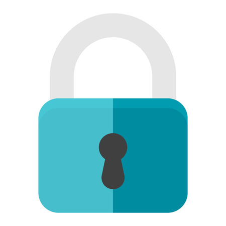 lock icon: Padlock icon isolated unlock open secret on white background. Safe password web vector lock icon key sign private graphic. Keyhole shape system lock icon design internet privacy sign.