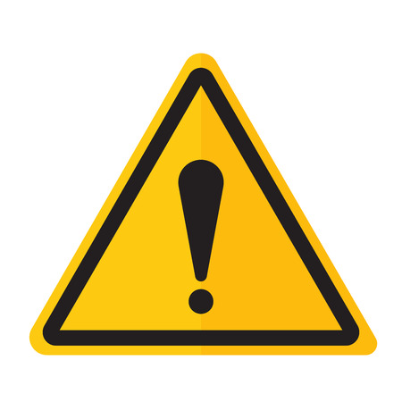 point exclamation: Exclamation point icon danger button and attention warning sign. Attention security alarm symbol. Danger warning attention sign with symbol information and notification icon vector Illustration