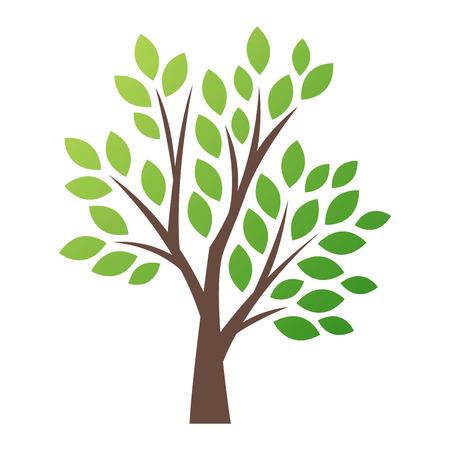 Stylisé arbre vecteur logo icône. arbre vecteur silhouette plat isolé sur blanc. forme de l'arbre et le symbole foem. Vert vecteur arbre icône logo isolé. eco naturel produit logo Banque d'images - 63710324