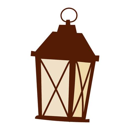 Street light posts and outdoor elements for construction of landscapes. Vector flat illustration street light and street light night road pillar ancient old fashioned lamp. City lantern lamp.