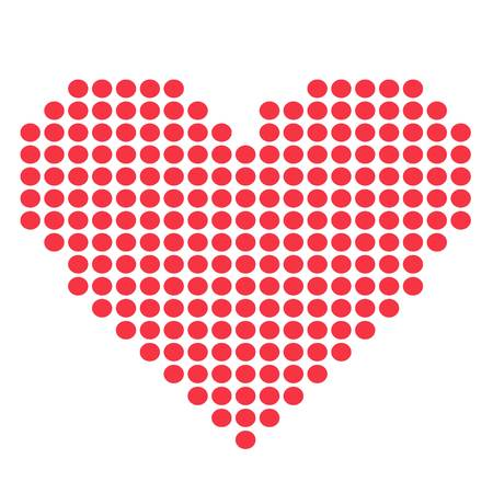 amour: Simple red heart sharp vector icon. Color card beautiful celebrate bright emoticon red heart symbol. Red heart holiday abstract art icon decoration. Romance shape design. Love amour heart symbol.