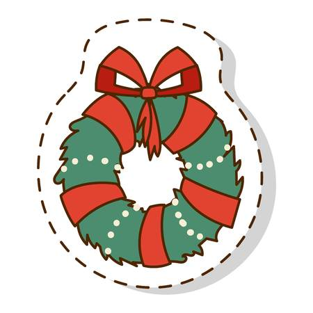 ilex: European christmas branch holly ilex aquifolium leaves and fruit. Floral branch red xmas winter decor christmas berry symbol. Vector decorative holly christmas branch leaf traditional ornament symbol. Illustration
