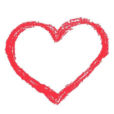 Eenvoudige rood hart scherp vector icon. Kleur kaart mooie vieren heldere emoticon rood hart symbool. Rood hart abstracte kunst pictogram decoratie. Romance vorm ontwerp. Liefde amour hart symbool.