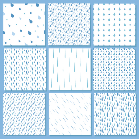 kropla deszczu: Seamless colorful rain drops pattern background vector. Seamless rain drop pattern stylish hipster background. Rain drops pattern design seamless graphic nature texture liquid backdrop. Ilustracja