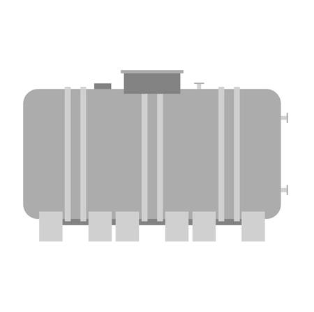 Container liquid cask storage object. Brel capacity tank vector isolated. Illustration
