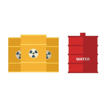 cask: Container liquid cask storage object. Brel capacity tank vector isolated. Illustration