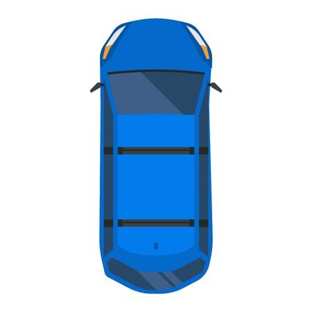 coches del icono del vector aislado. Desde arriba la vista superior del coche. colección de vehículos de transporte de diseño de automóviles vista superior del motor.
