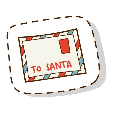 Vintage christmas letter to santa template on white background blank christmas scroll santa postcard greeting gift mail isolated on white background vector paper claus spiritdancerdesigns Images