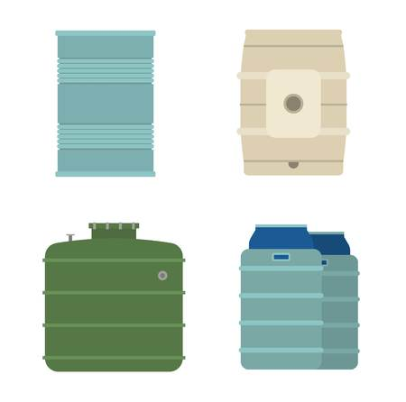 bowels: Container liquid cask storage object. Brel capacity tank vector isolated. Illustration