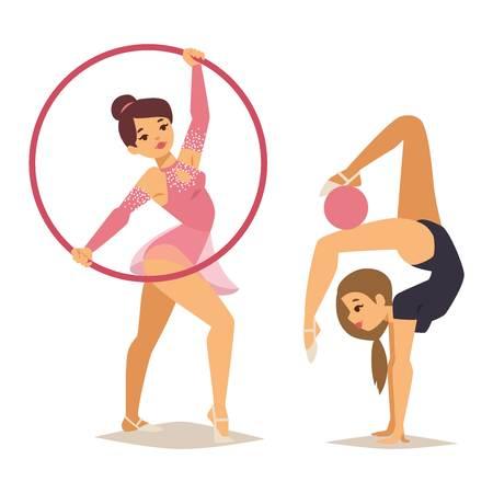 Рисуем девочек гимнасток