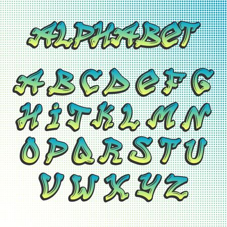 alfabeto graffiti: set disegnata a mano grunge simbolo vernice disegno font. Ulteriori vettore alfabeto font grunge pennello testo grafico inchiostro graffiti. Graffiti grunge stile del carattere di struttura comporre arte sporco artistico. Vettoriali